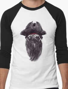 Capt. Blackbone the pugrate Men's Baseball ¾ T-Shirt