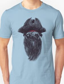 Capt. Blackbone the pugrate Unisex T-Shirt