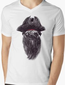 Capt. Blackbone the pugrate Mens V-Neck T-Shirt