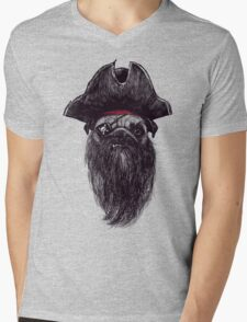 Capt. Blackbone the pugrate Mens V-Neck T-Shirt