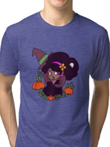Black Cat and Witch Tri-blend T-Shirt