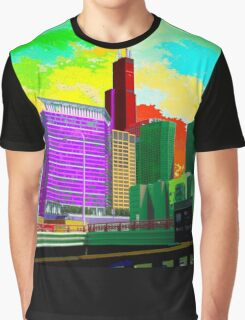 Chicago in Pop art style Graphic T-Shirt
