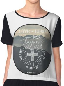 Christian Quote Chiffon Top