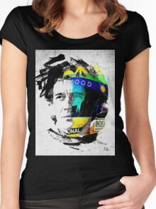 ayrton senna Women's Fitted Scoop T-Shirt