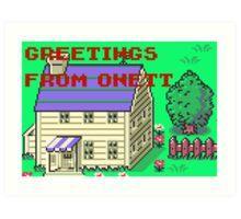 Earthbound Greetings From Onett Art Print