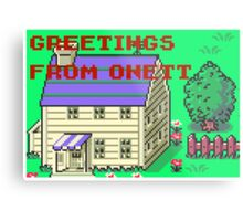 Earthbound Greetings From Onett Metal Print