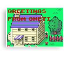 Earthbound Greetings From Onett Canvas Print