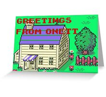 Earthbound Greetings From Onett Greeting Card