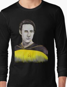 Star Trek Next Generation Data Watercolor Long Sleeve T-Shirt