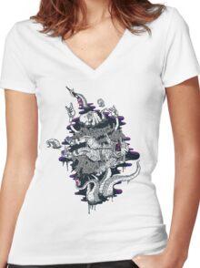 Liquid Journey Women's Fitted V-Neck T-Shirt