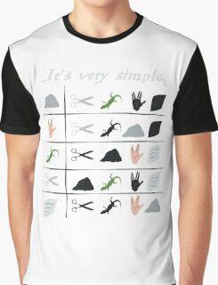 scissors rock paper spock lizard  Graphic T-Shirt