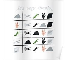 scissors rock paper spock lizard  Poster