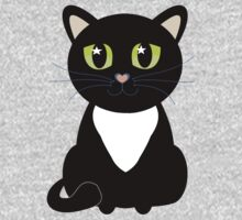 Only One Black and White Cat One Piece - Long Sleeve