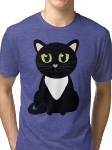Only One Black and White Cat Tri-blend T-Shirt