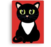 Only One Black and White Cat Canvas Print