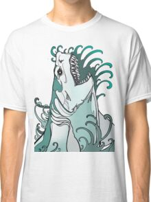 megalodon, great white, shark attack Classic T-Shirt