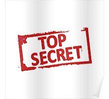 Top Secret Stamp Poster