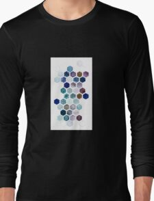 Geometric Hexagon Watercolors Long Sleeve T-Shirt