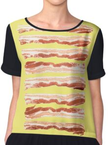 Bacon, Raw Chiffon Top