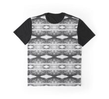 Black & White Geometric Lace Pattern Graphic T-Shirt