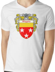 Wiggins Coat of Arms / Wiggins Family Crest Mens V-Neck T-Shirt