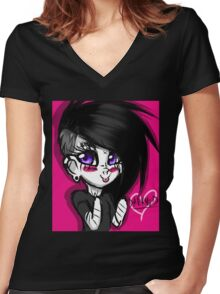 Cute Darknud ! Women's Fitted V-Neck T-Shirt