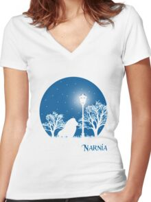 narnia Women's Fitted V-Neck T-Shirt
