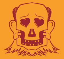 Dead Metal Mullet Man, red outline by Jansie Blom