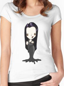 Morticia Women's Fitted Scoop T-Shirt