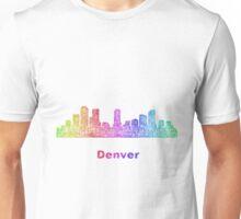 Rainbow Denver skyline Unisex T-Shirt