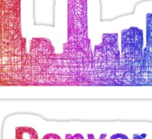 Rainbow Denver skyline Sticker