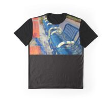 Blue Benches in Tourist Town Graphic T-Shirt