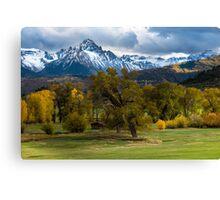 Sneffels Fall Cattle Ranch - Ridgway - Colorado Canvas Print