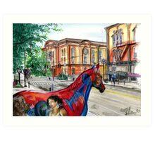 Saratoga Springs Broadway Art Print