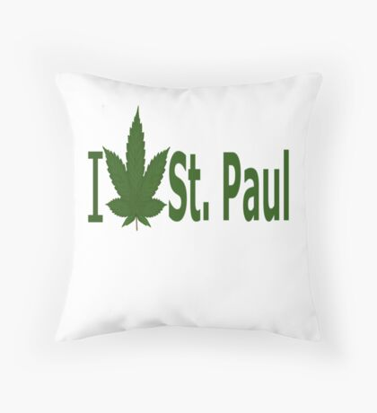 I Love Saint Paul Throw Pillow
