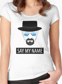 Breaking Bad - Say my name Women's Fitted Scoop T-Shirt