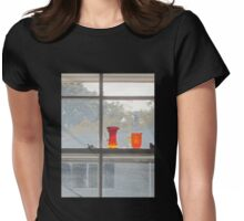 Orange glass dull day Womens Fitted T-Shirt