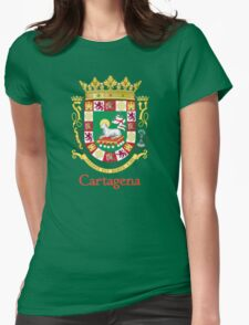 Cartagena Shield of Puerto Rico Womens Fitted T-Shirt