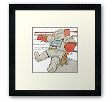 Stay Puft in the Ring Framed Print