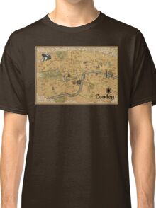 Map of London - Tolkien Inspired  Classic T-Shirt