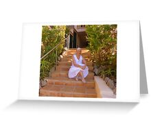 Moi At My Rented Villa In The Sun Greeting Card