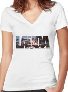 Niki Lauda - World Champion Women's Fitted V-Neck T-Shirt