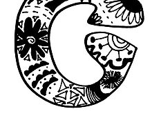 """Hipster Letter """"C"""" Zentangle by alexavec"""