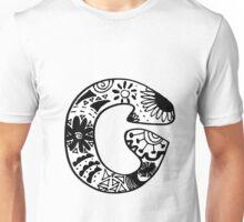 """Hipster Letter """"C"""" Zentangle Unisex T-Shirt"""