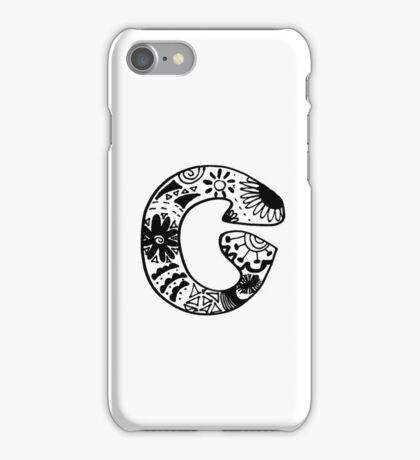"Hipster Letter ""C"" Zentangle iPhone Case/Skin"