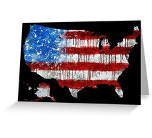 United States - Red White and Blue Greeting Card