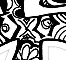 """Hipster Letter """"F"""" Zentangle Sticker"""