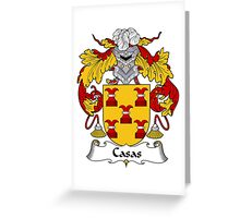 Casas Coat of Arms/Family Crest Greeting Card