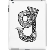 "Hipster Letter ""G"" Zentangle iPad Case/Skin"