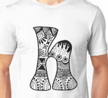 """Hipster Letter """"H"""" Zentangle Unisex T-Shirt"""